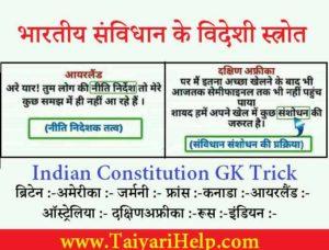 Indian Constitution GK Trick