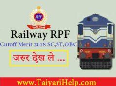 RPF Cutoff Merit 2018