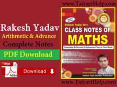 Rakesh Yadav Arithmetic Class Notes