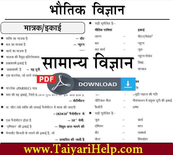 Ghatna Chakra General Science Book in Hindi PDF - Taiyari Help