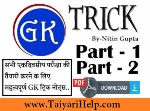 GK Trick Nitin Gupta Book PDF Download in Hindi