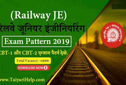 RRB JE Exam Pattern in Hindi