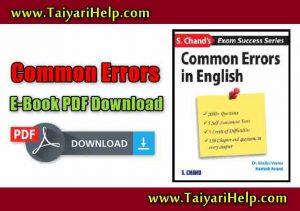 Common Errors English Grammar Book PDF - Taiyari Help