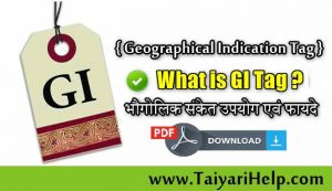 What is GI Tag in Hindi [ Geographical Indication Tag Kya Hai ]