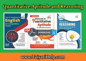 Quantitative Aptitude and Reasoning Best Book PDF Download