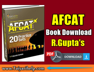 Afcat Book PDF Download By R. Gupta's in Hindi